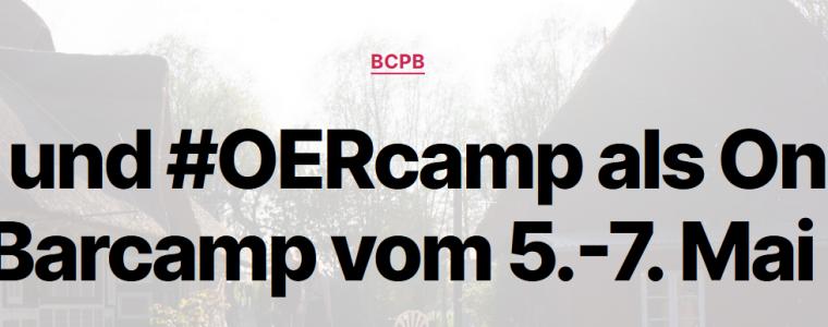 bcpb und #OERcamp als Online-Barcamp