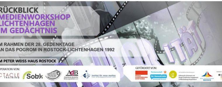 """Medienworkshop """"Lichtenhagen und die Medien"""" im Rahmen der 28. Gedenktage an das Pogrom Rostock-Lichtenhagen 1992"""