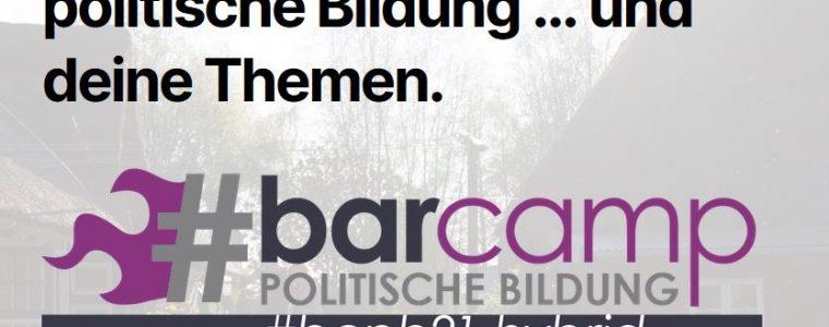 Barcamp politische Bildung #bcpb hybrid